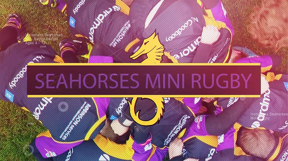 Instonians Seahorses mini rugby Belfast